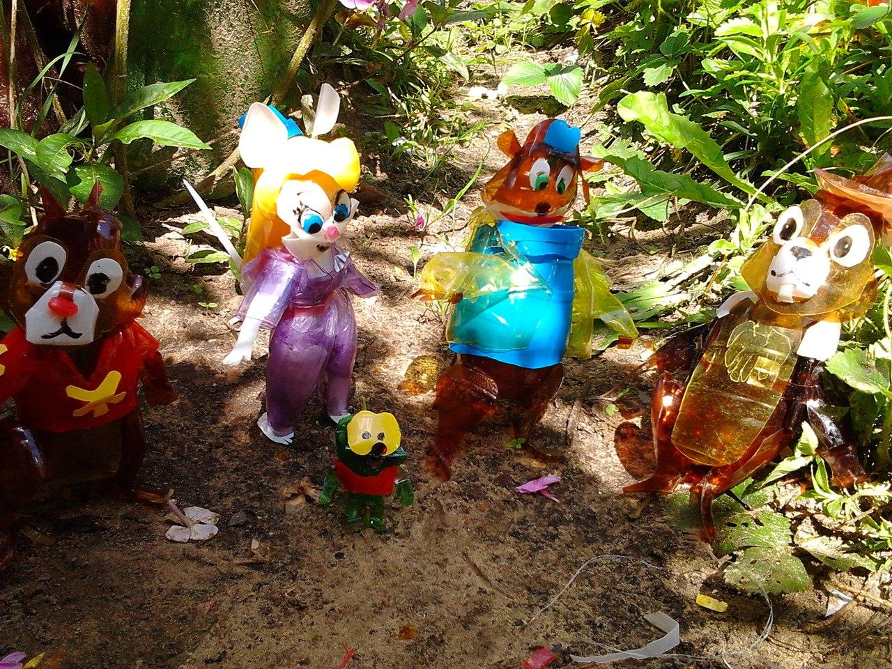 Поделка из бутылки в детский сад фото