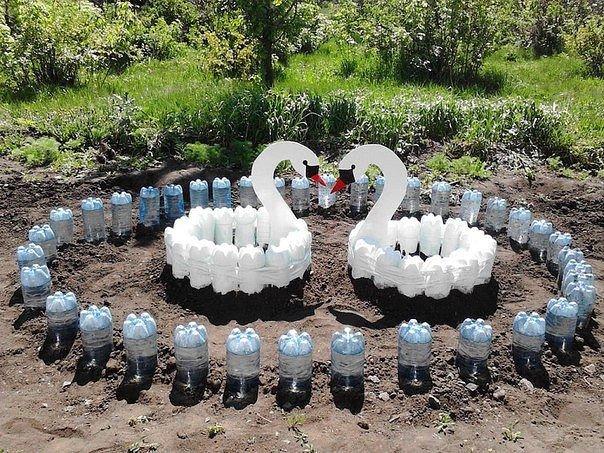 Поделки для дачи и сада из пластиковых бутылок своими 786